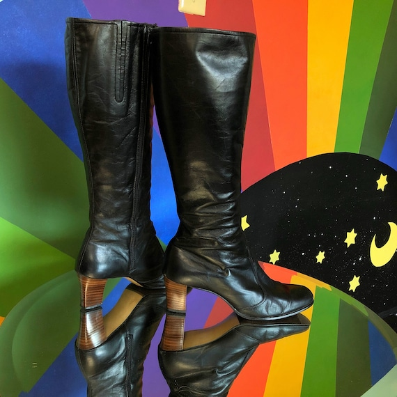 8.5 / 9 US - Vintage 1970s Winter Boots - 60s 70s
