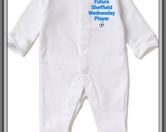 Sleepsuit Me and My Daddy Support Sheffield Wednesday Football Babygrow
