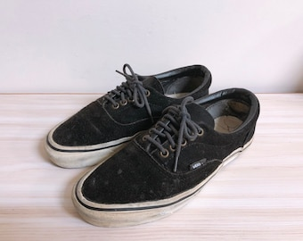 5faeaf7f16 Vintage vans black suede shoes made in usa size 7