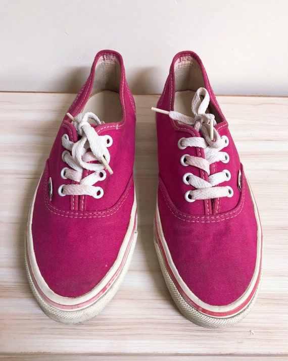 Vintage Vans shoes pink shoes super cute Made in t