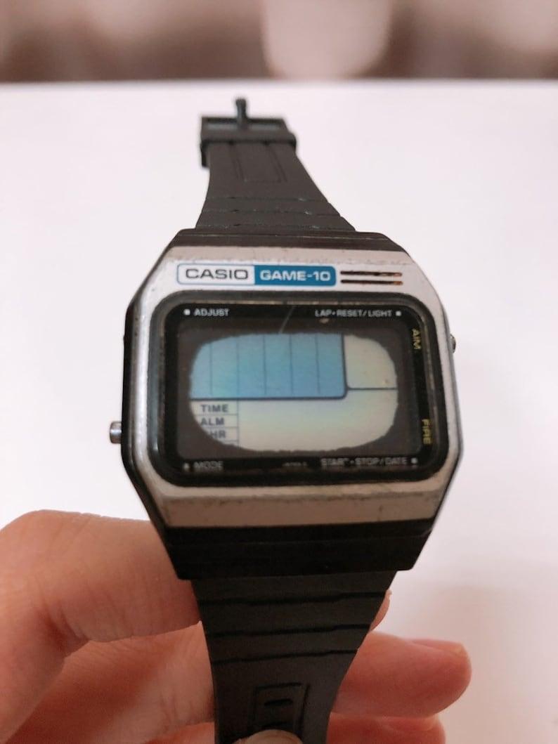 9406348c8 1980s Vintage Casio Game 10 Watch GM-10 MODULE 165 super | Etsy