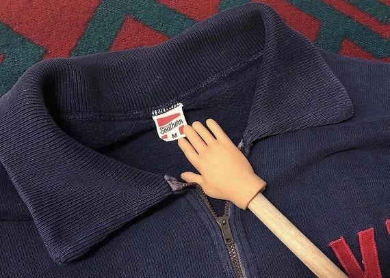 50s 60s VH half zip sweatshirt faded sweatshirt - image 3
