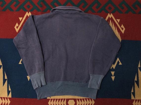 50s 60s half zip sweatshirt faded sweatshirt - image 2