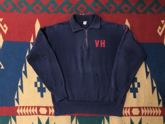 50s 60s VH half zip sweatshirt faded sweatshirt