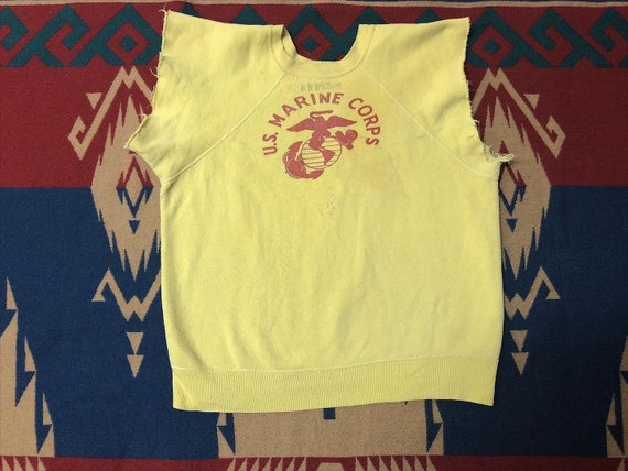 Vintage 50s 60s USMC short sleeves sweatshirt