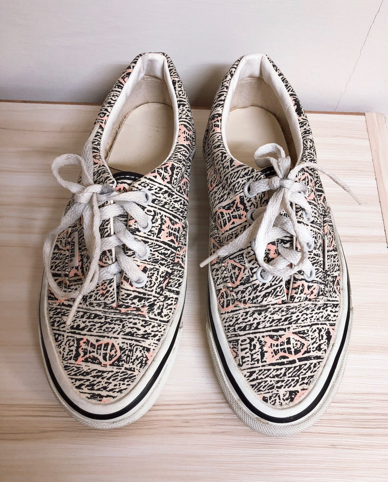 c593bb5502dc Vintage vans shoes 90s fish full print made in usa super rare
