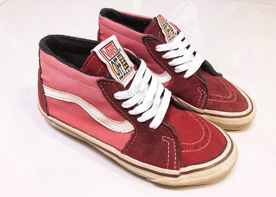 Vintage Vans sk8-mid shoes made in USA style83