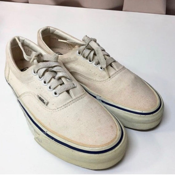 6993853b71 Vintage Vans shoes era style 95 white shoes Made in USA