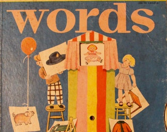 Vintage Little Golden Book  No.A1 Activity Book Words 1st Edition  20 page 1955