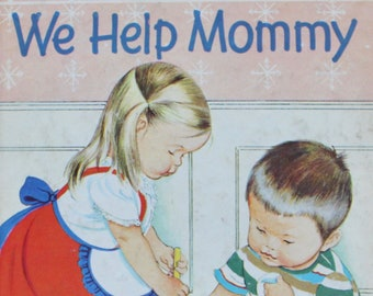 "Vintage Little Golden Book - No.352 We Help Mommy 1959 ""A"" 1st edition"
