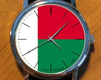Model JF203S7 (Madagascar) JOE.NA REDESIGNED Wrist Watch: Unisex, Analog, Leather Band, Quartz, Japanese movement