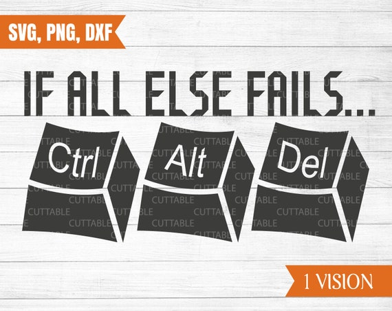 CTRL DEL ALT If All Else Fails Funny Hoodie Computer PC Geek IT Code Gift