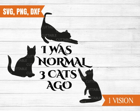 I Was Normal Three Cats Ago Funny Cat Lovers Langarmshirt
