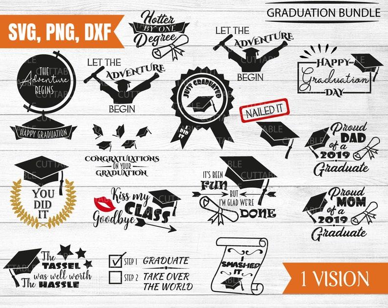 Graduation SVG bundle, 16 cut files, happy graduation, just graduated,  congratulations on your graduation, silhouette cut file, svg,dxf, png