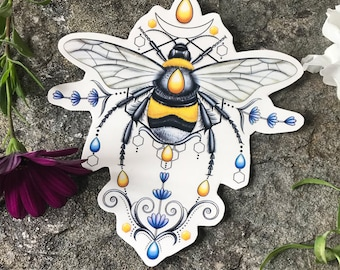 Bumble Bee Tattoo, Bee Tattoo, Pretty Bee Tattoo, Bumble Bee Accessory, Bees Loves Lavender, Lavender Bees