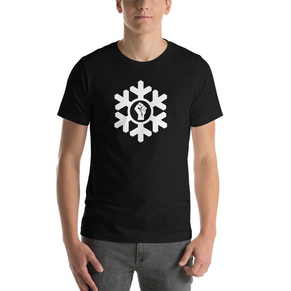 Power Fist Proud Snowflake Liberal Tee Shirt Etsy