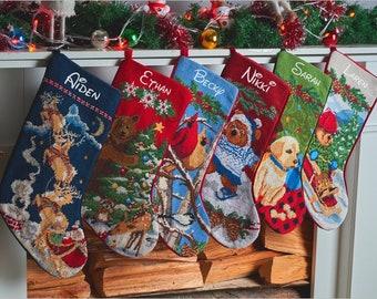 needlepoint christmas stockings personalized christmas stockings custom stockings family stockings embroidered stockings monogram stockings