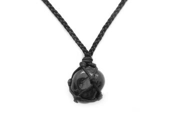 Onyx Necklace, Black Onyx Pendant, Protection Necklace, Mens Pendant, Black Onyx Jewelry, Healing Crystal Necklace, Gift for Boyfriend