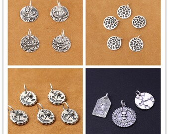 4f909682e order 925 sterling silver round with carved dangle beads thai silver  pendants cy077 589e5 35e04