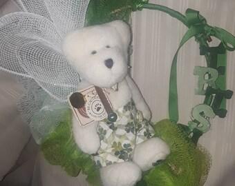 Boyds Bear Irish or St Patty's Day wreath look cute