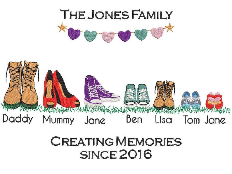 Family Shoes Boots Digitized Machine