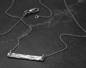 Sterling Silver Hammer Finished Pendant