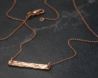Rose Gold Hammer Finished Pendant
