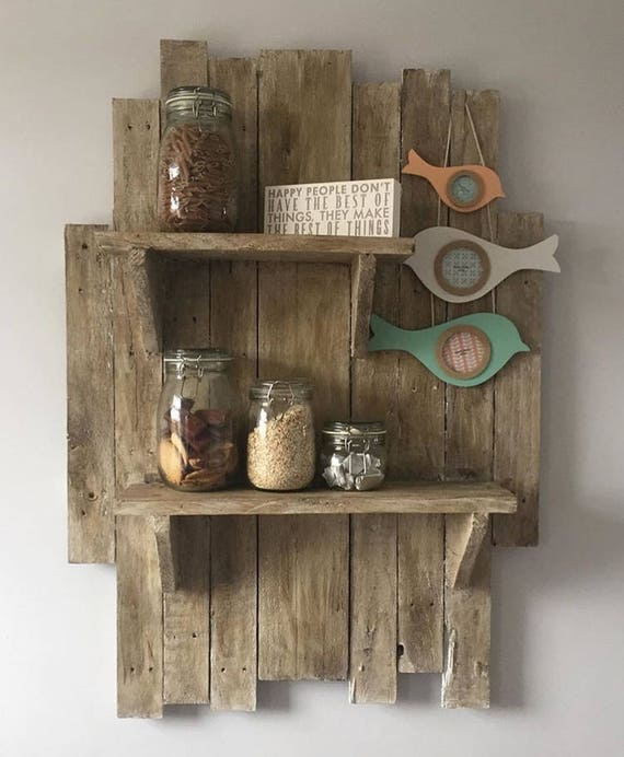 handmade wooden shelves pallet shelves floating shelves etsy rh etsy com