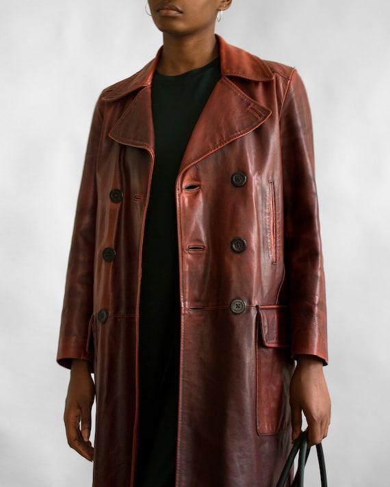 Valentino Vintage Leather Coat