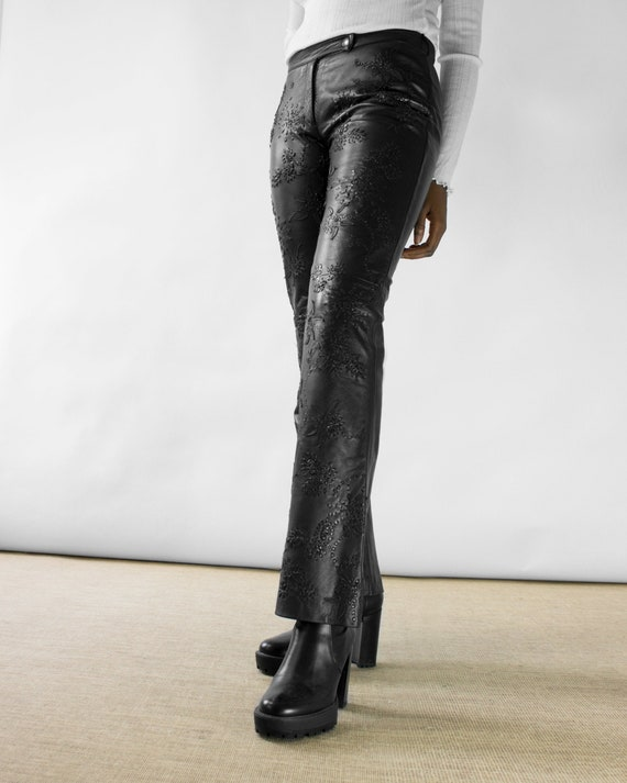 Moschino Black Leather Pants
