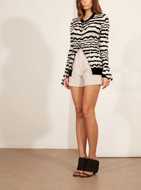 COMME Striped Sweater GARÇONS Cardigan des qwxRvXUw4