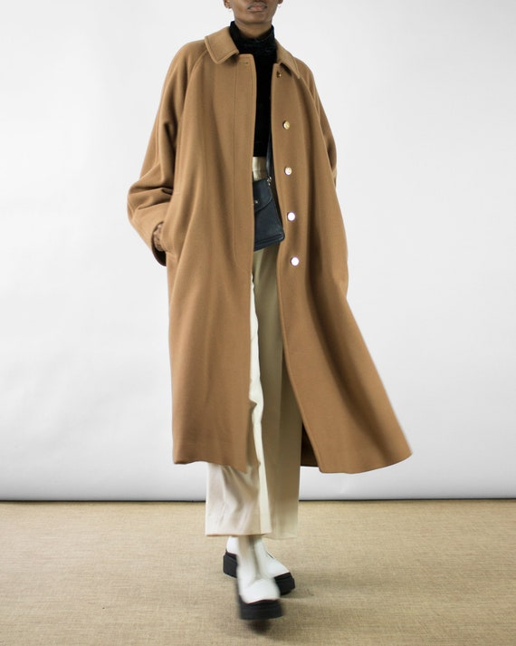 Burberry Cashmere Coat with Gold Buttons