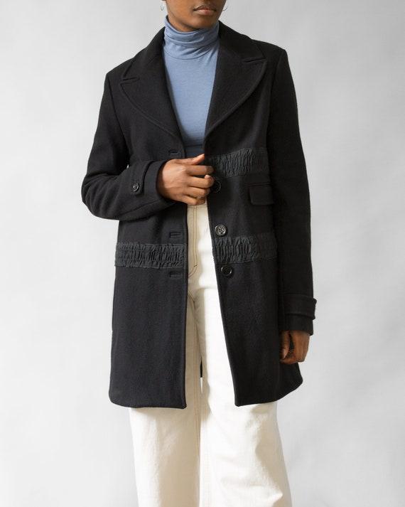 John Galliano Black Wool Coat