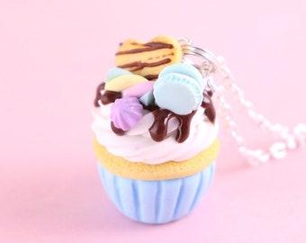 lampwork glass jewelry Cupcake /& Strawberry Lampwork Glass Bracelet and Earrings Set strawberry jewelry cupcake jewelry summer jewelry