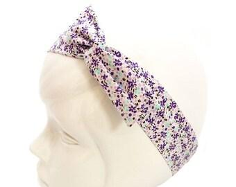 Liberty Blue and purple wire headband