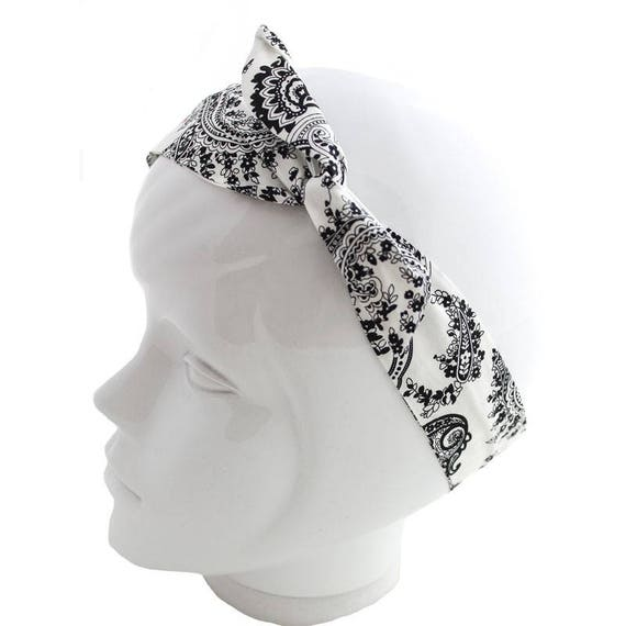 Twisted wire black and white bandana pattern  562afbf54a2
