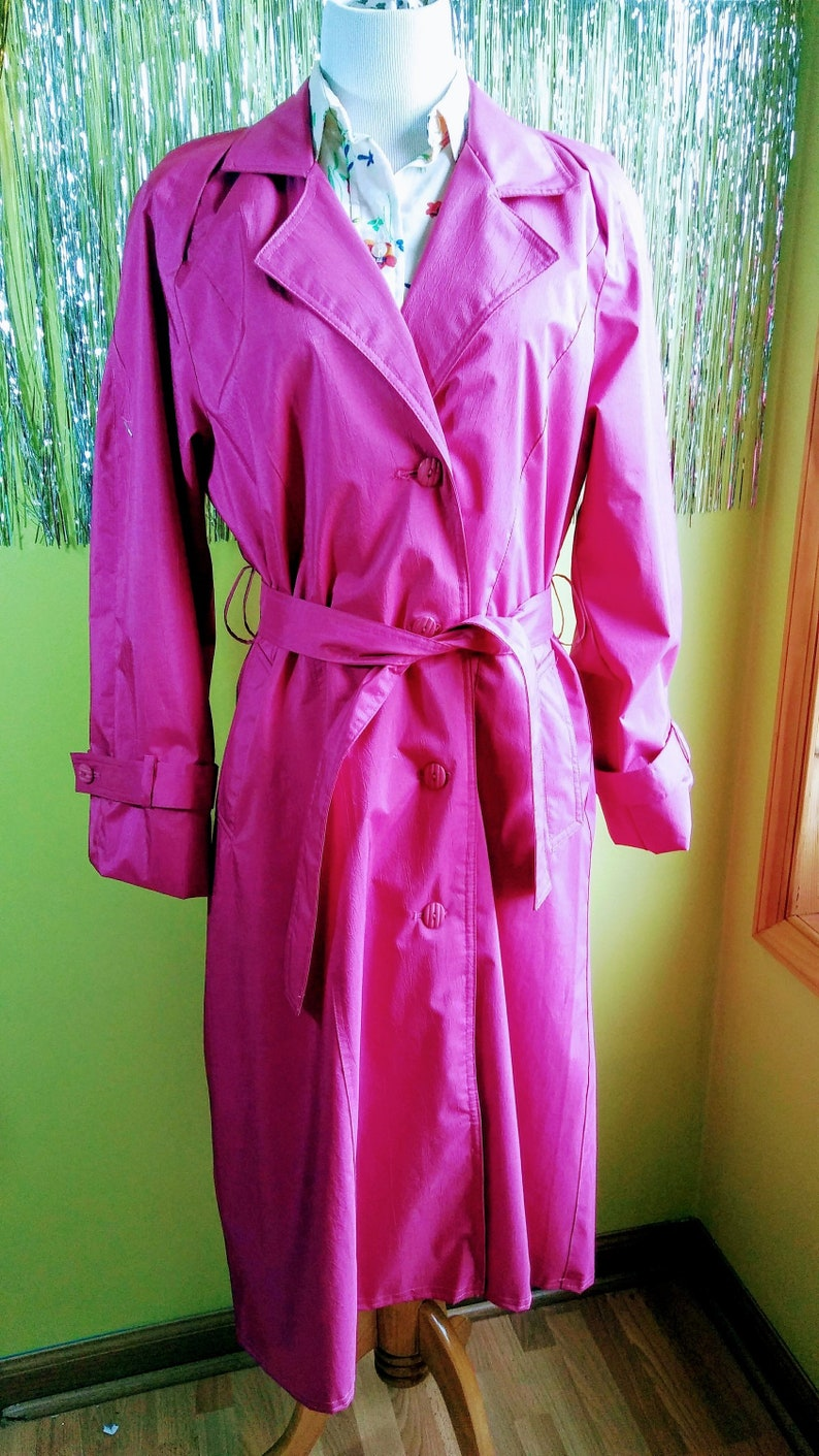 sale retailer pretty nice select for genuine Bright Pink London Town Trench Raincoat Size 10, Cheerful and Fully Lined  Quality Women's Long Coat Jacket
