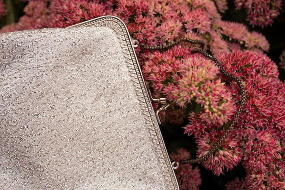 60s Silver Lamé bag - image 2