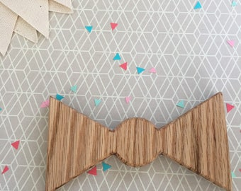 Organic Wooden Baby Rattle Toy - Bowtie