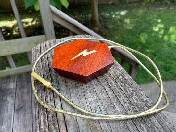 iPhone Android Blood Wood Hexagon Phone Wireless Charger Apple Samsung Brass Lightning Inlay