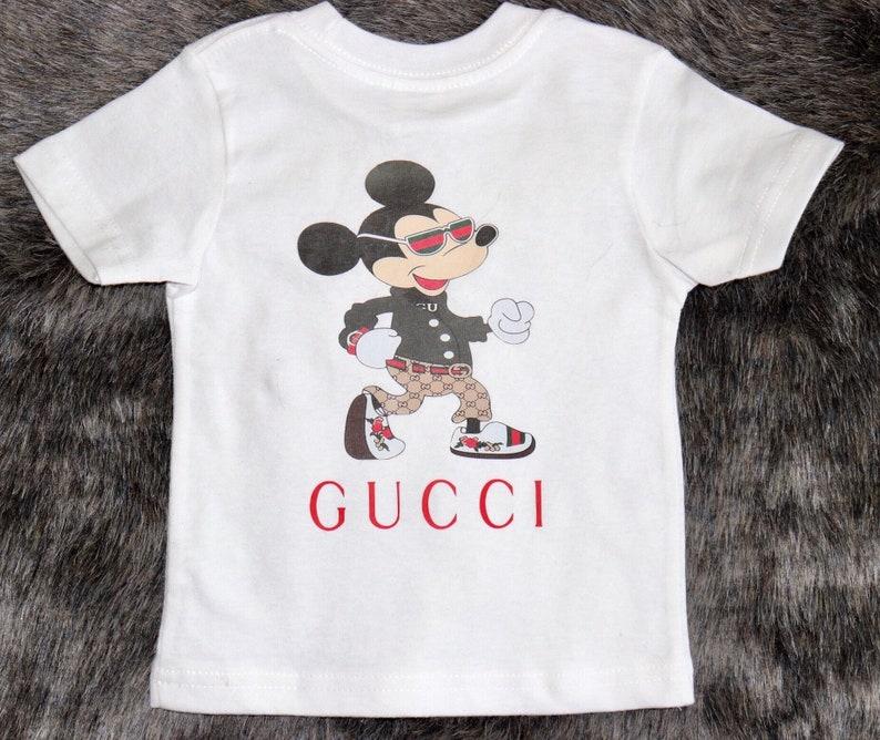40dd98d4e28e0 Gucci inspired T-shirt kids tee kids custom made t-shirt