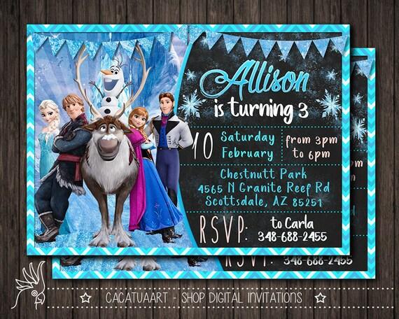Frozen Birthday Party Invites Winter Invitation Snowflake Invitation Frozen Birthday Invitation Frozen Invitation