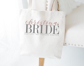 Bridal Party Totes, Set of 6, Personalized, Natural Cotton, Bridal Party, Bride, Bridesmaid Gift