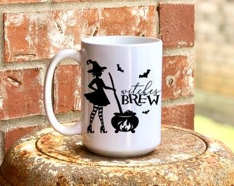Witches Brew Mug, Dishwasher & Microwave Safe, Fall, Halloween, 15 oz Premium Ceramic Mug