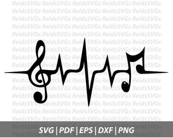 Music Heartbeat Svg Etsy