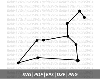 Leo Constellation SVG | Cricut | Silhouette | Cutting Machines