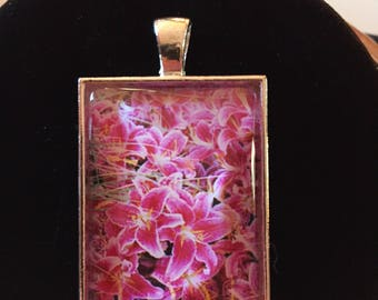 Photograph under glass! Tiger lilies located in Mystic, CT. You can smell the beauty in this piece.
