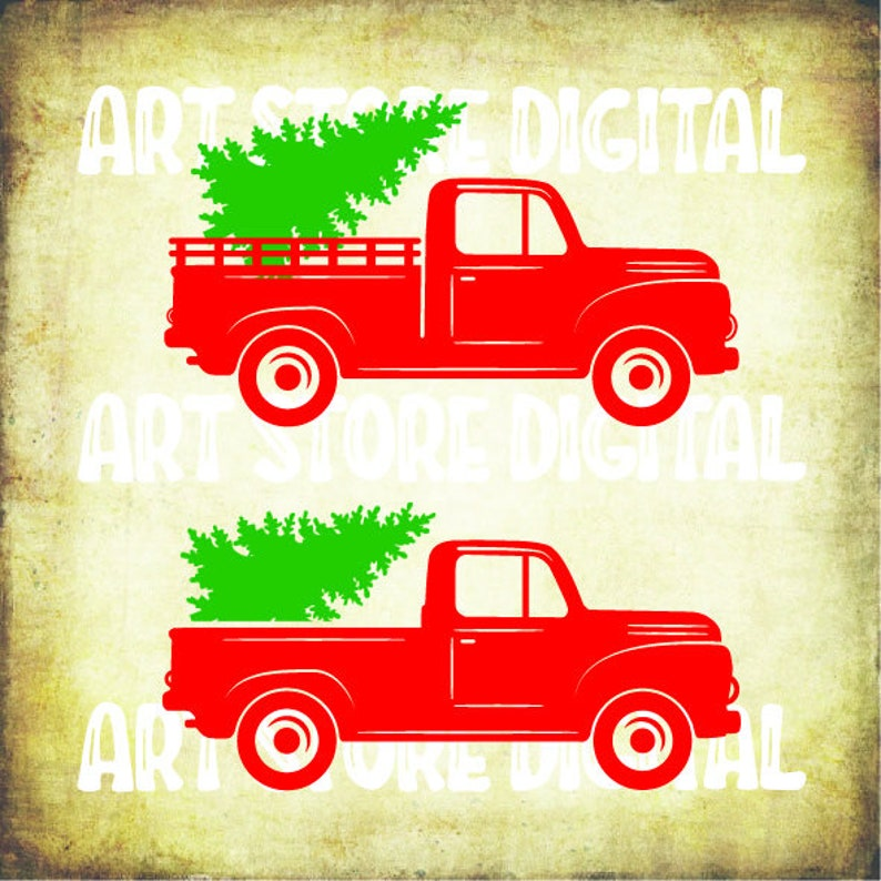 Christmas Tree Truck Svg Free.Buy 3 Get 1 Free 2 Red Truck Svg Christmas Tree Truck Svg Christmas Svg Files For Cricut Cutting Files Download Svg Dxf Png Eps
