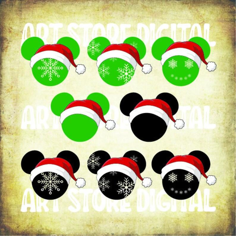Buy 3 Get 1 Free 8 Mickey Santa Svg Disney Santa Svg Etsy