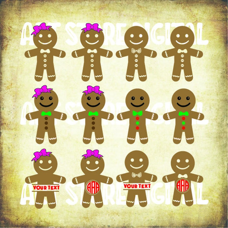 Buy 3 Get 1 Free 12 Gingerbread Cookies 1 Svg Cookie Svg Christmas Candy Svg Files For Cricut Cutting Etc Files Download Svg Dxf Png Eps